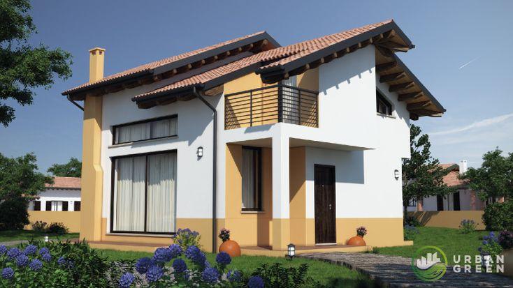 Progetto Casa in Legno Bipiano URB01 da 120 metri quadrati. Progettazione casa in legno personalizzata a seconda delle esigenze abitative
