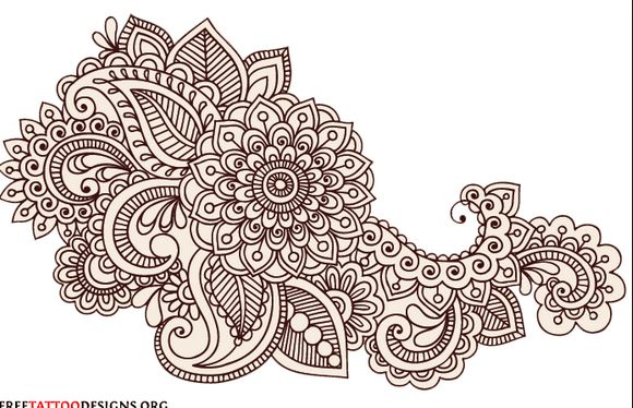 Easy Mehndi Patterns To Copy : Henna print artwork pinterest