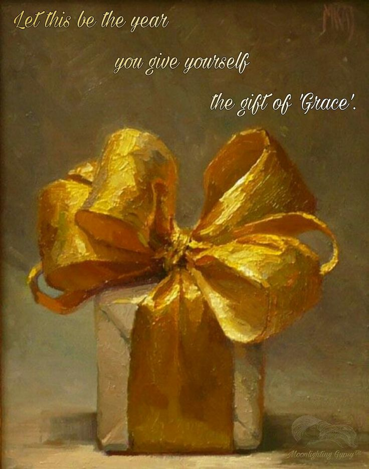 Let this be the year you give yourself the gift of 'Grace' ⊰❁⊱ namaste'