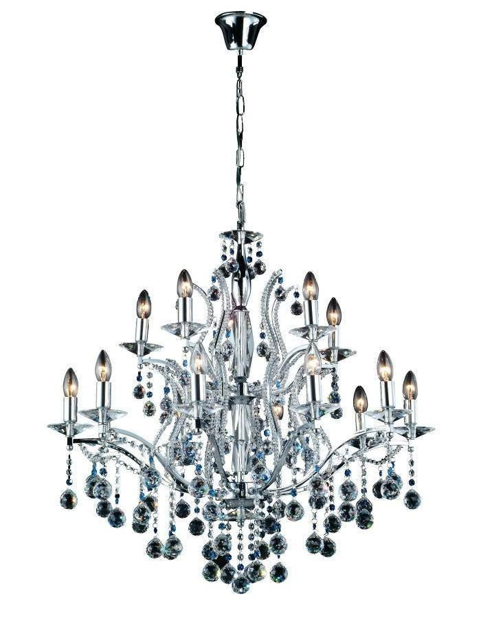 Mosman Chandelier - 15 Light  The Mosman Chandelier - 15 Light is a grand statement that oozes style and sophistication. A traditional style chandelier that is chrome plated and dripping in high quality crystal.