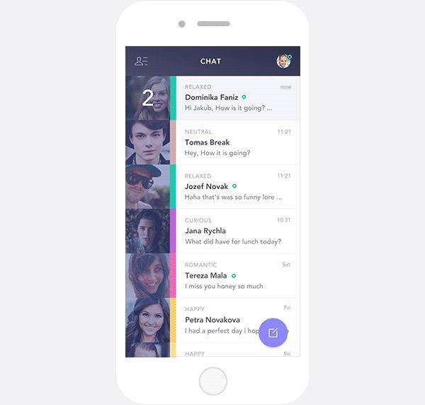 Feely Chat App on Behance