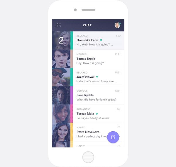 Feely Chat App on Behance