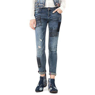 LINK: http://ift.tt/2kdHZRn - JEANS ADERENTI CON STRAPPI TOPPE PIED DE POULE #moda #stile #abbigliamento #donna #jeans #denim #desigual => Jeans Donna Desigual Denim Dina: la moda giovane - LINK: http://ift.tt/2kdHZRn