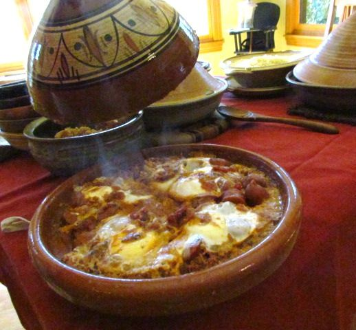 ... poached eggs moroccan merguez ragout with poached eggs recipe on