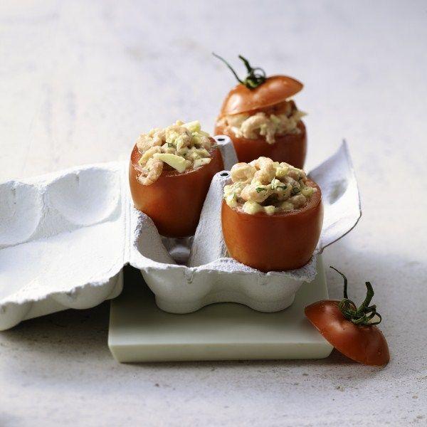 Gevulde tomaat met garnaal, super snel en heel feestelijk! #WWrecept #WeightWatchers