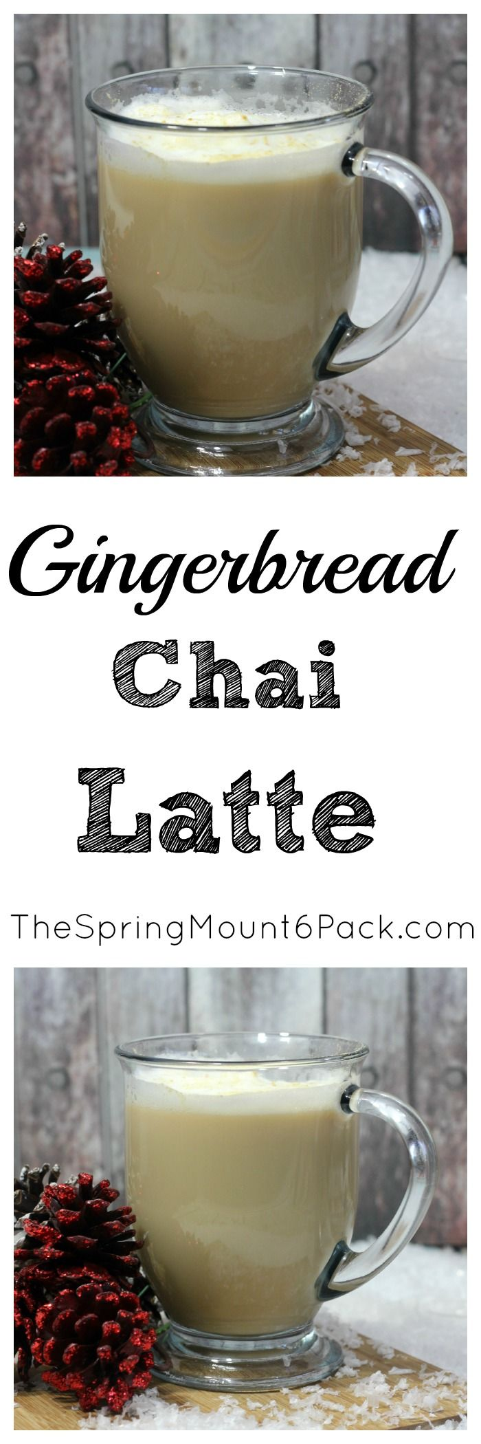 Whether you are looking for a special drink for Christmas, or want a chai latte recipe, you will love this Gingerbread Chai latte  via @debitalks