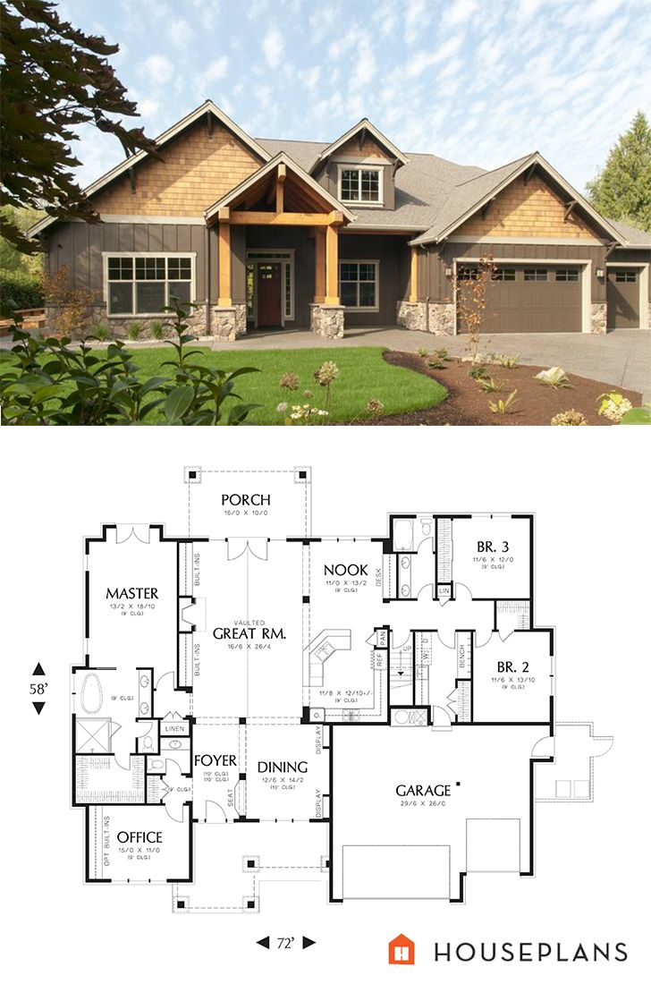 Craftsman plan 48 542 craftsmanhouseplan for Houseplans com craftsman