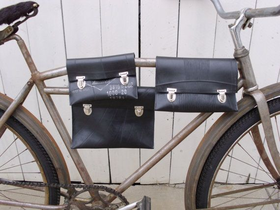 Eco-friendly Reclaimed Truck Inner Tube Top Tube Bicycle Bag