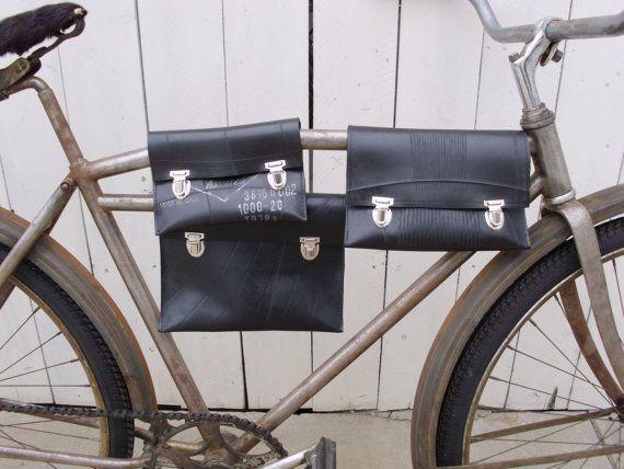 Eco-friendly Reclaimed Truck Inner Tube Top Tube Bicycle Bag