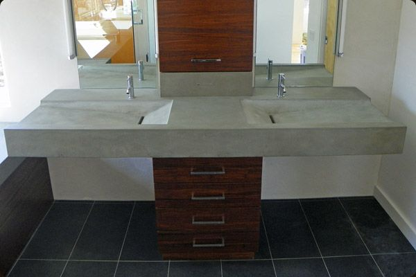 29 best images about ramp sinks on pinterest trough sink for Diy floating vanity sink
