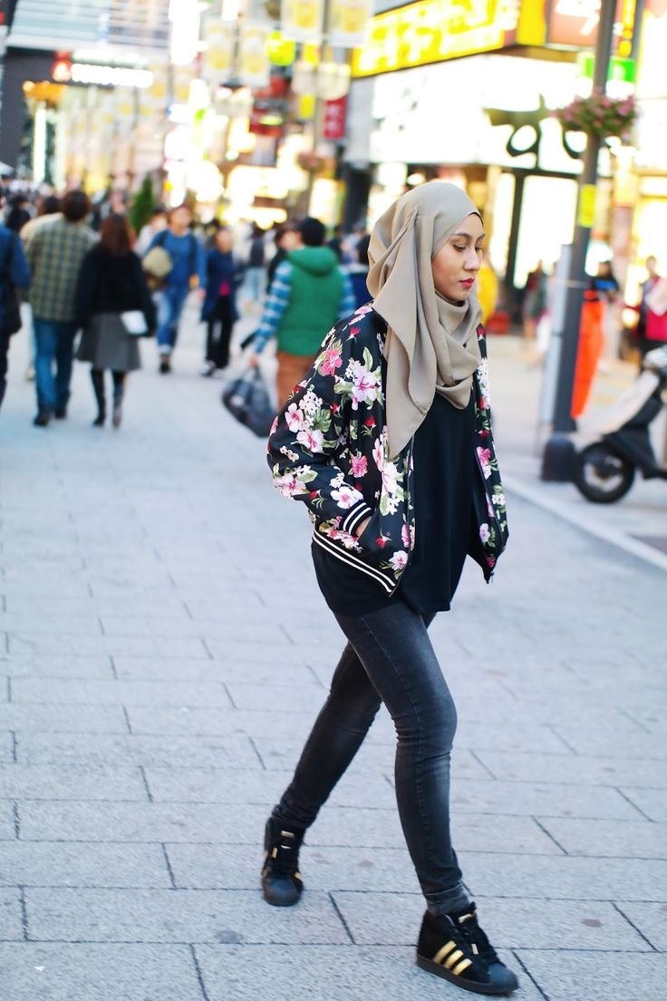 Floral Bomber Jacket (PS: Did You Know, Hibiscus Is Malaysia's National Flower)