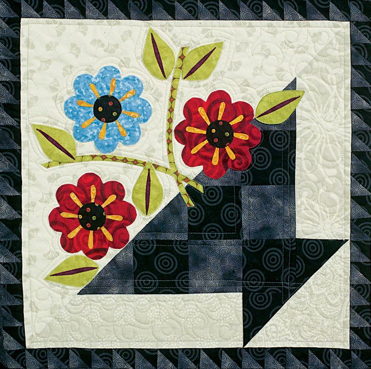 http://www.quiltersnewsletter.com/content_downloads/FP_800.jpgQuilters Newsletter, Baskets Block, Quilt Ideas, Applique Quilt, Flower Baskets Quilt, Flower Block, Flower Power, Basket Quilt Block, Baskets Quilt Block