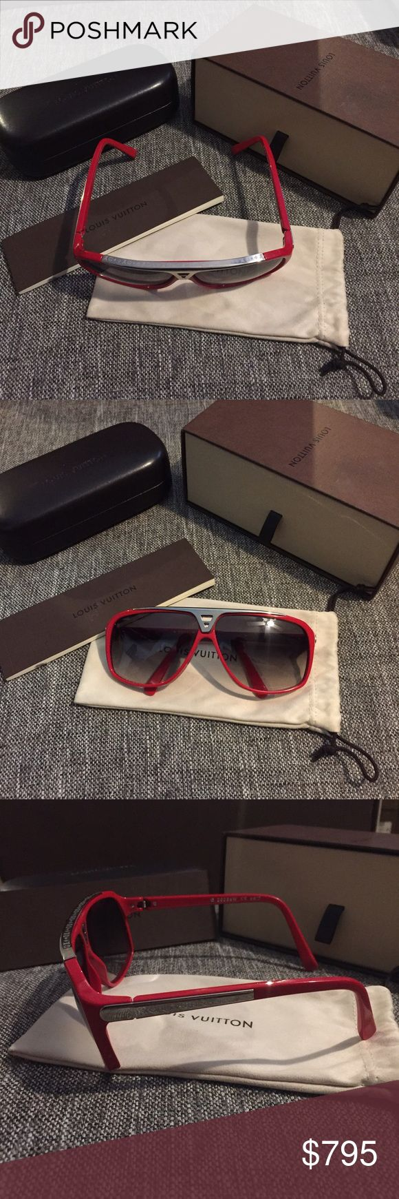 0aa3d7adf0e1 Louis Vuitton Sunglasses Evidence Red