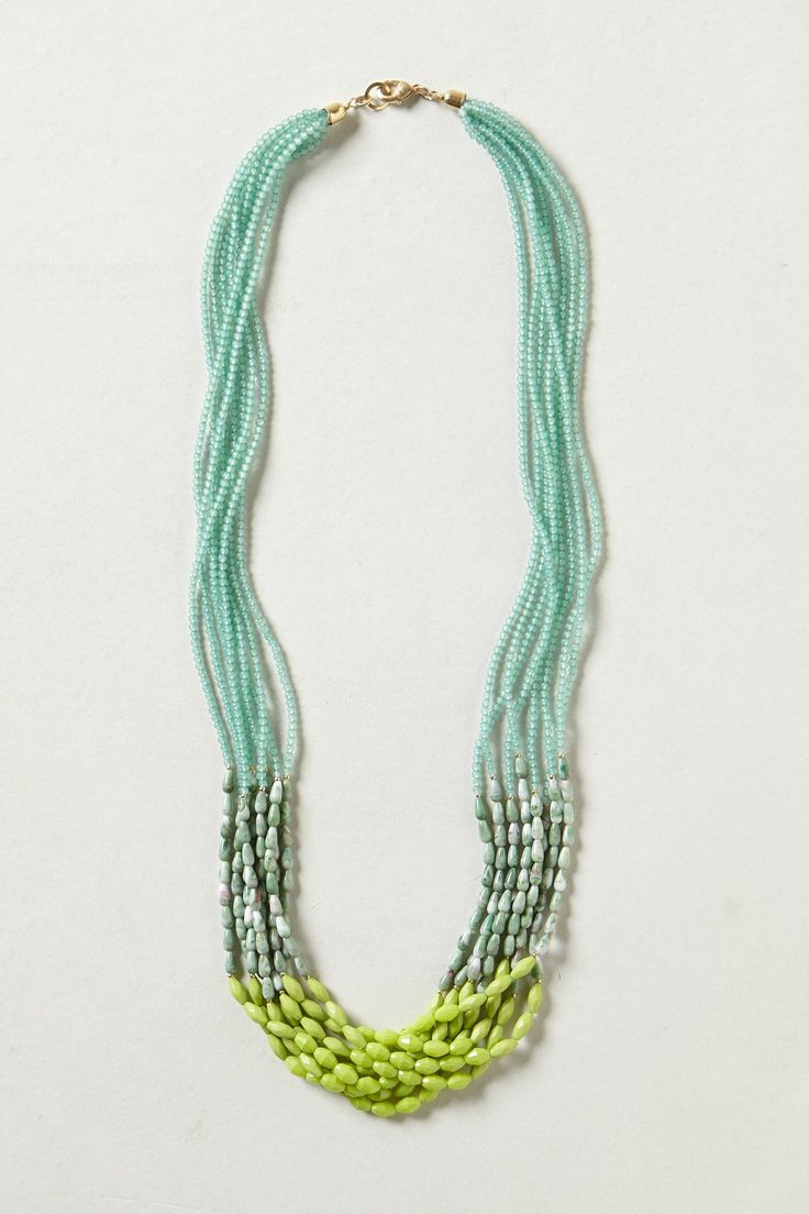 Resin Lagoon Layered Necklace by Anthropologie