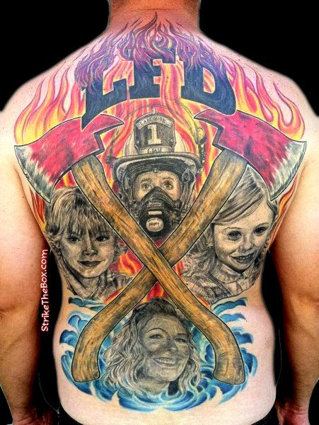 78 best firefighter emt tattoos images on pinterest. Black Bedroom Furniture Sets. Home Design Ideas