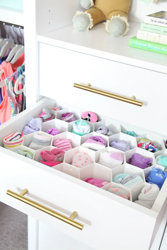 IHeart Organizing: Before & After: Organized Girl's Bedroom Closet