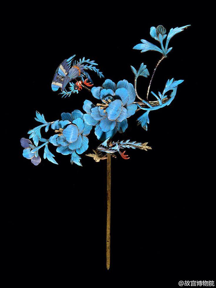 traditional Chinese kingfisher hairpin   Chinese Hairpin ...