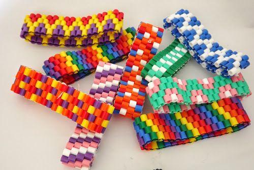 DIY Armband van strijkkralen tutorial- DIY Hama perler bead bracelet tutorial - CraftsbyManon - ManonCrochet
