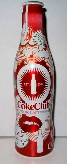 2010 Club Siofok Aluminun Bottle Coca Cola - Hungary