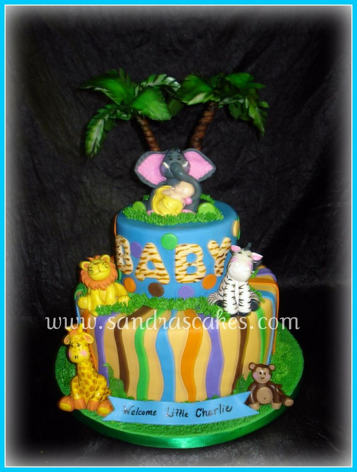 Boy Baby Shower Ideas | Sandra's Cakes: Jungle Themed Baby Shower Cake..Love it!!!
