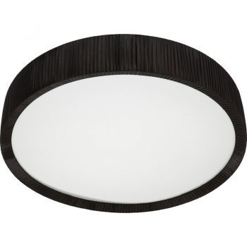 Plafoniera Nowodvorski Alehandro Black 100 LED - plafoniera neagra cu design simplu pentru amenajari in stil minimalist #plafoniere #DecoStores #amenajariinterioare #iluminat #corpurideiluminat #interiordesign #ceilinglamps #lamps