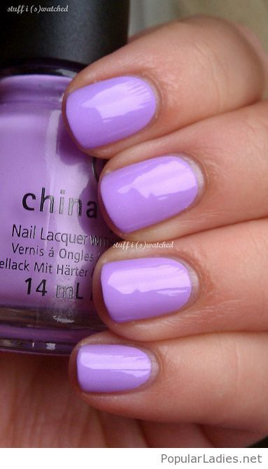 Nice light purple nail polish color