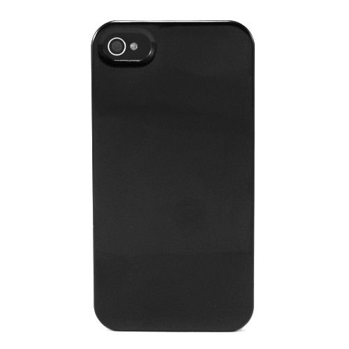 Zwart Glanzende Hardcase Back Cover iPhone 4 / 4S