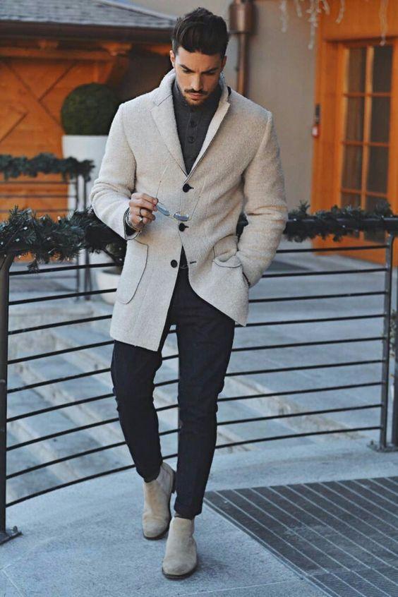 Fashion Mens Warm Outerwear Coat