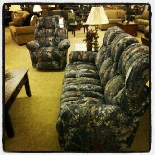 Flexsteel Sofa Camoflauge couch and recliner
