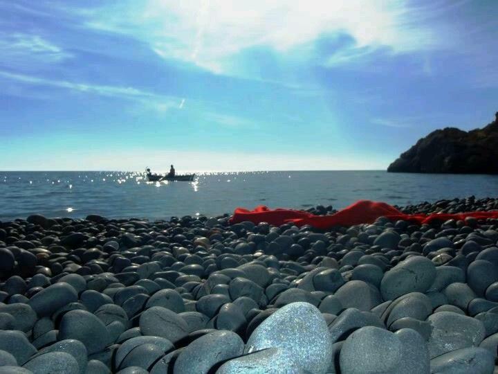 Chios island,Mavra Volia beach