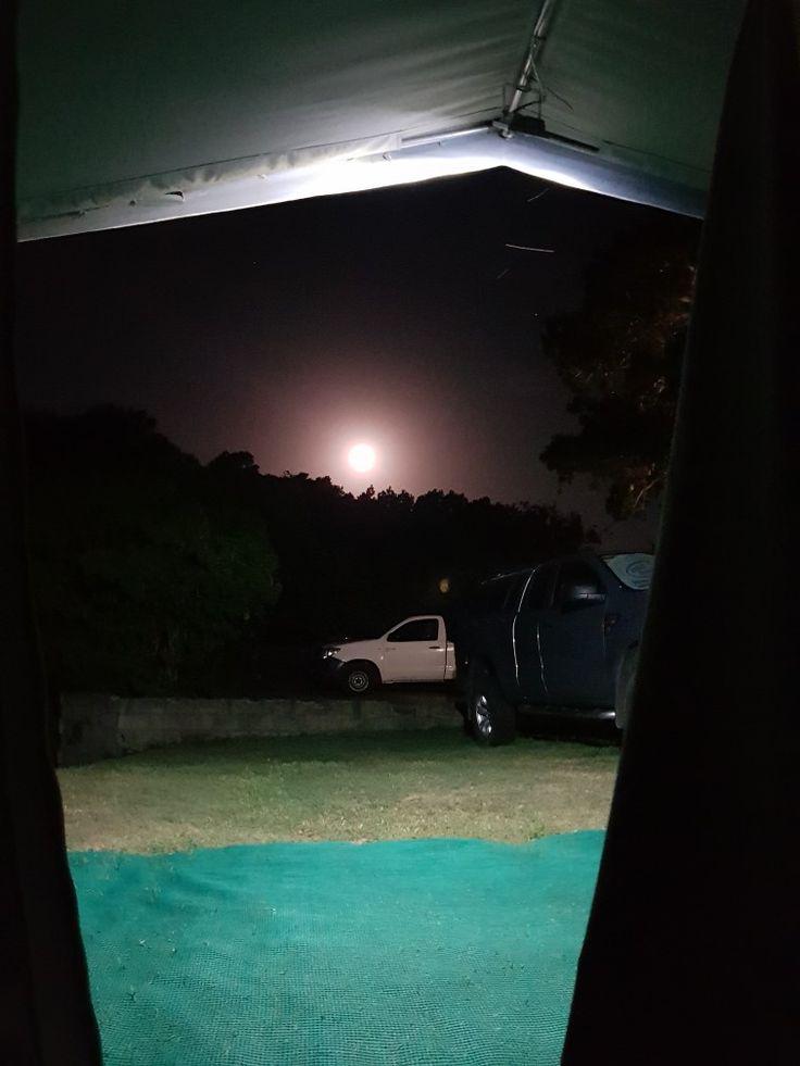Moon visible at Bushmans River Mouth