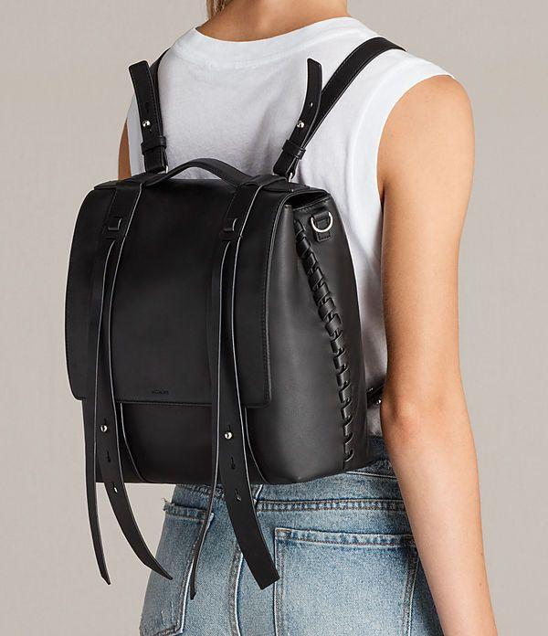 Women's Fin Shoulder Backpack (Black) - Image 2