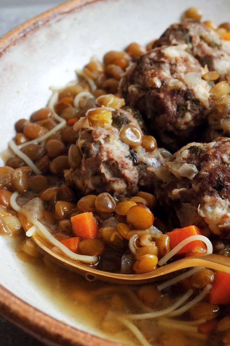 NYT Cooking: This recipe came to The Times in a 2004 article about iftar, the breaking of the fast during Ramadan, the monthlong Muslim holiday during which observers abstain from food and drink from sunrise to sunset. Soup, like this hearty, spiced lentil soup with meatballs and angel hair pasta, is a common iftar meal as it provides substantial nutrition as well as plenty of hydration. It is adapted from ...