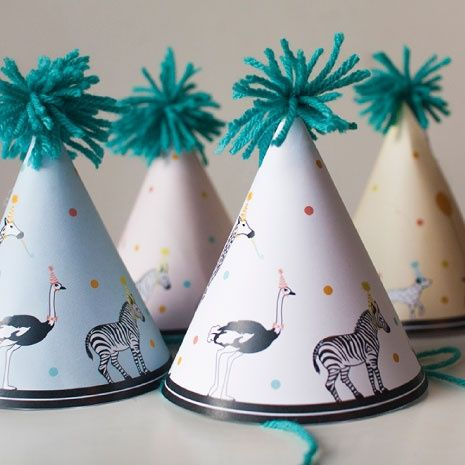 Free printable party hat