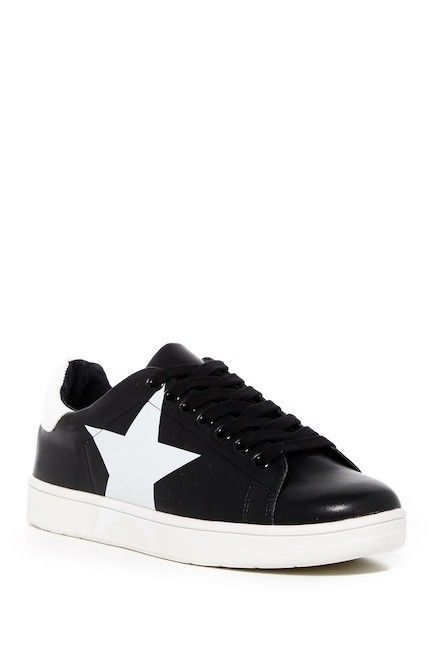 3737d37c449 Steve Madden Rhode Womens Size 13 Black White Star Fashion Lace up Sneakers  NWT  SteveMadden  FashionSneakers