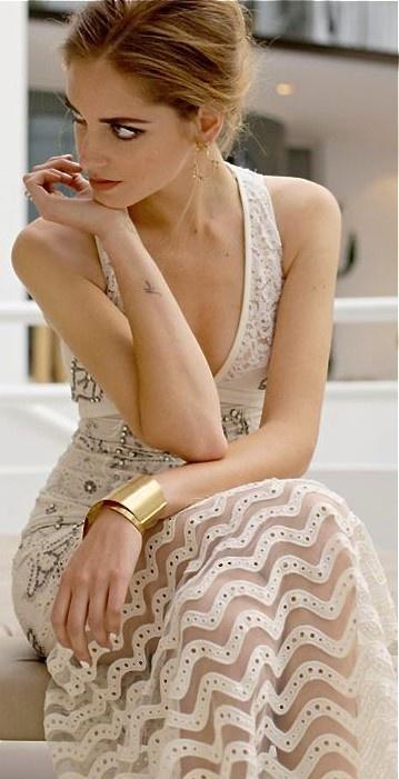 Roberto cavalli h&m gold dress extra