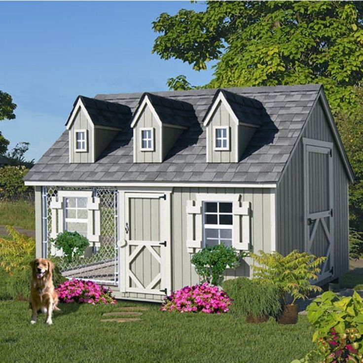 http://amzn.to/22sgApN Why put your best friend in a dog house, when you can put him or her in a dog home? The Little Cottage Cape Cod Cozy Cottage Kennel is as good as it gets for the canine member of your family