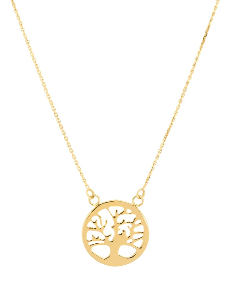 London Jewelers Collection 14K Yellow Gold Tree of Life Necklace! $230