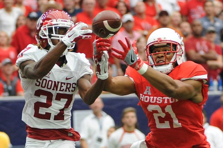 Top 25 football: Oklahoma, LSU stunned  HOUSTON - Brandon Wilson went end line to end zone to score a touchdown with an Oklahoma missed field goal and No. 15 Houston beat the third-ranked Sooners 33-23 Saturday, looking every bit ready to compete in the Big 12. #LSUfootball http://rock.ly/cljwg