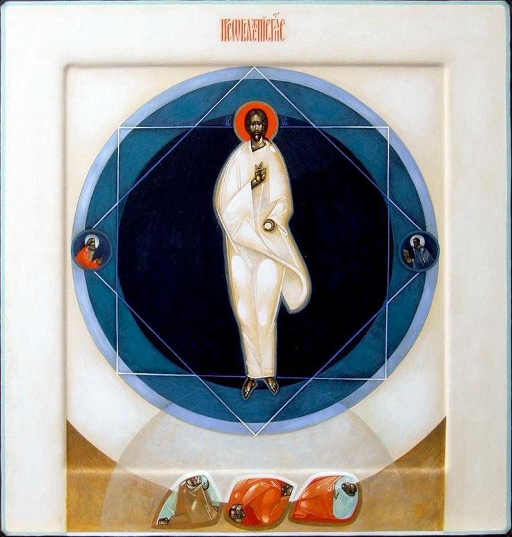 The Transfiguration - Contemporary icon by Greta Leśko of Poland
