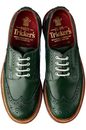 Green brogue by Tricker's
