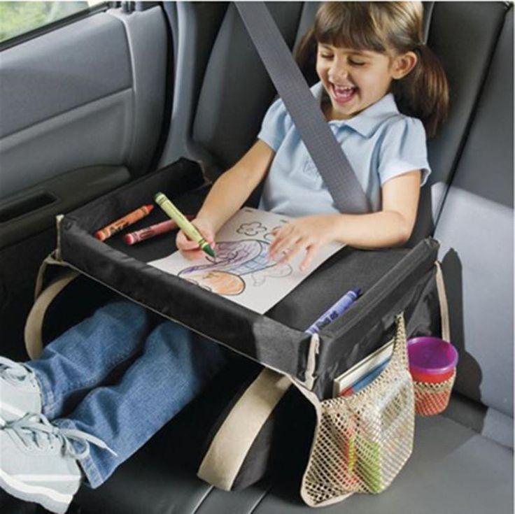 [Visit to Buy] 30x40cm Car Seat Slit Gap Pocket Storage Glove Box Organizer Slot Box For Child Snack Water Drink Car Seat Tray Storage #Advertisement