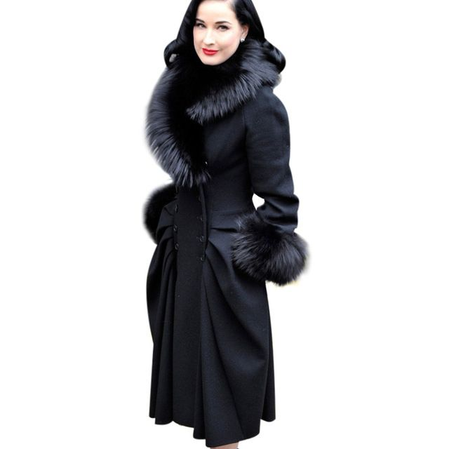 VfEmage Womens Winter Elegant Vintage Detachable Fur Collar Double Breasted Thick Long Coat Jacket Outwear 148 US $61.59-79.19 /piece    CLICK LINK TO BUY THE PRODUCT  http://goo.gl/oYWEYs