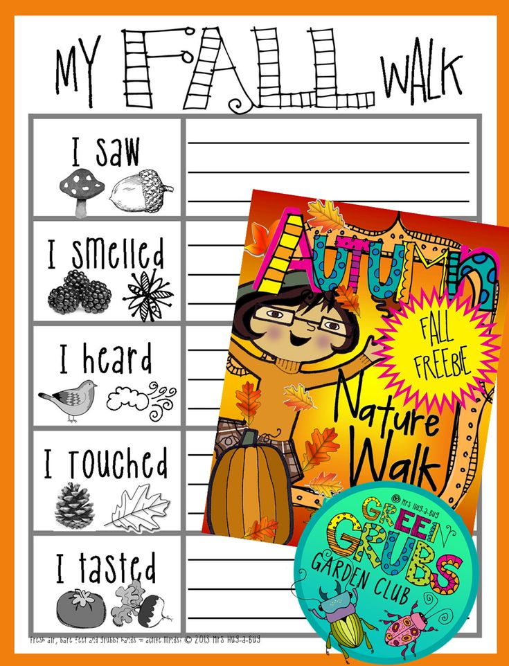 ~FREE PRINTABLE~ Grab your magnifying glasses and head outside on a leaf crunching Autumn Nature Walk! This is a fun outside activity allowing your children to soak up the simple pleasures of nature... (Available in both Autumn and Fall worded versions)