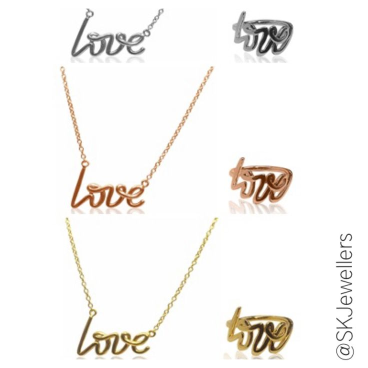 The perfect gift for your loved ones. LOVE Necklace & Ring Available in 14k White, Rose, or Yellow Gold www.samuelkleinberg.com