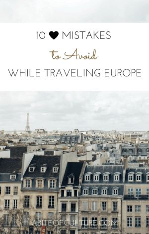 10 Mistakes to Avoid While Traveling Europe; traveling to Europe soon? Whether you're headed to Italy, Greece, France, or more, be sure to check out these common mistakes that many travelers make leading up to their Eurotrip and how to avoid them.