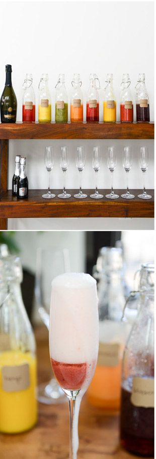 Make a Bellini Bar for your Easter Brunch! by @howsweeteats I howsweeteats.com