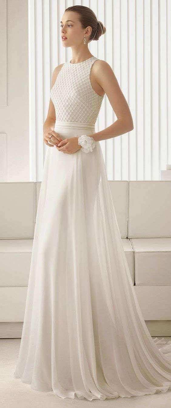 Vestidos de novia 2014: Fotos de diseños sencillos para una boda civil  (28/39)…