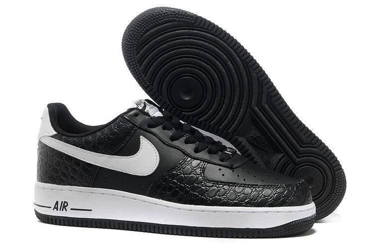 Nike Air Force 1 Bajo Hombre Alligator Negro/Blanco http://www.