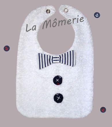 Bavoir bébé garçon chic noeud marin : Mode Bébé par la-momerie